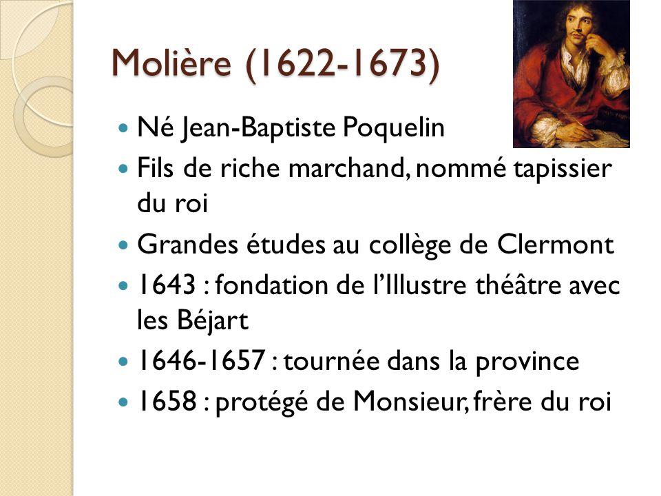Molière (1622-1673) Né Jean-Baptiste Poquelin