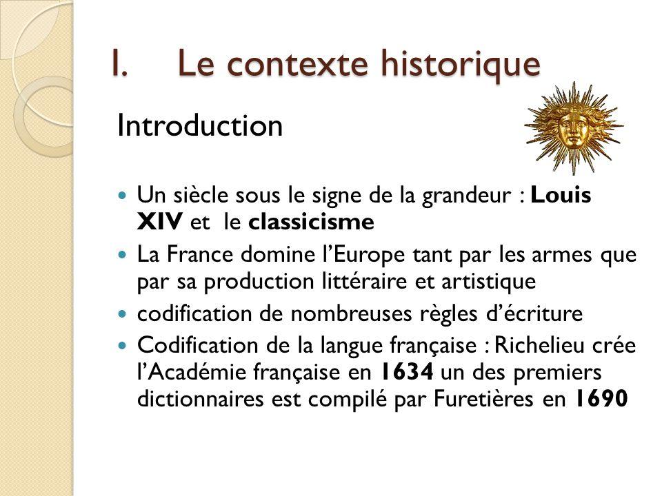 I. Le contexte historique