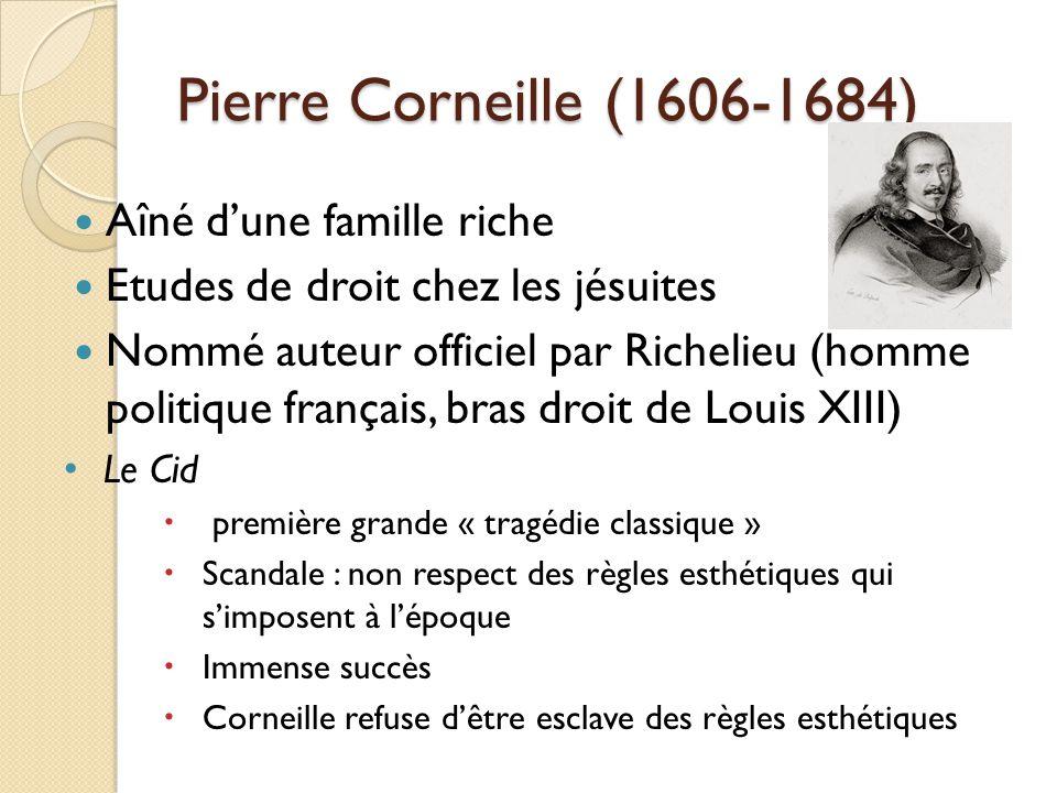 Pierre Corneille (1606-1684) Aîné d'une famille riche