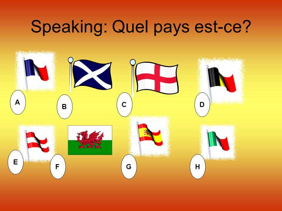 Speaking: Quel pays est-ce