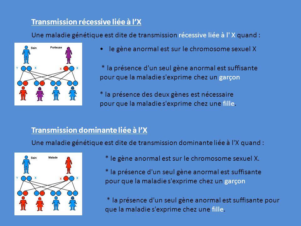 Transmission récessive liée à l'X