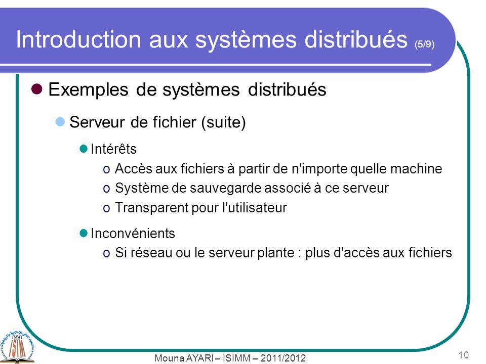 Introduction aux systèmes distribués (5/9)
