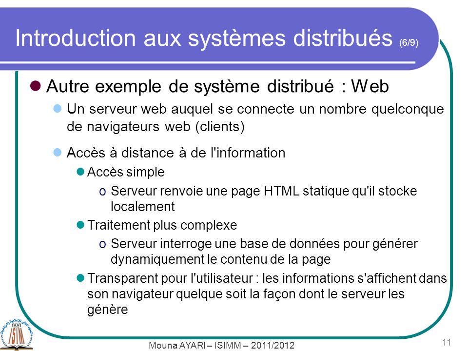 Introduction aux systèmes distribués (6/9)