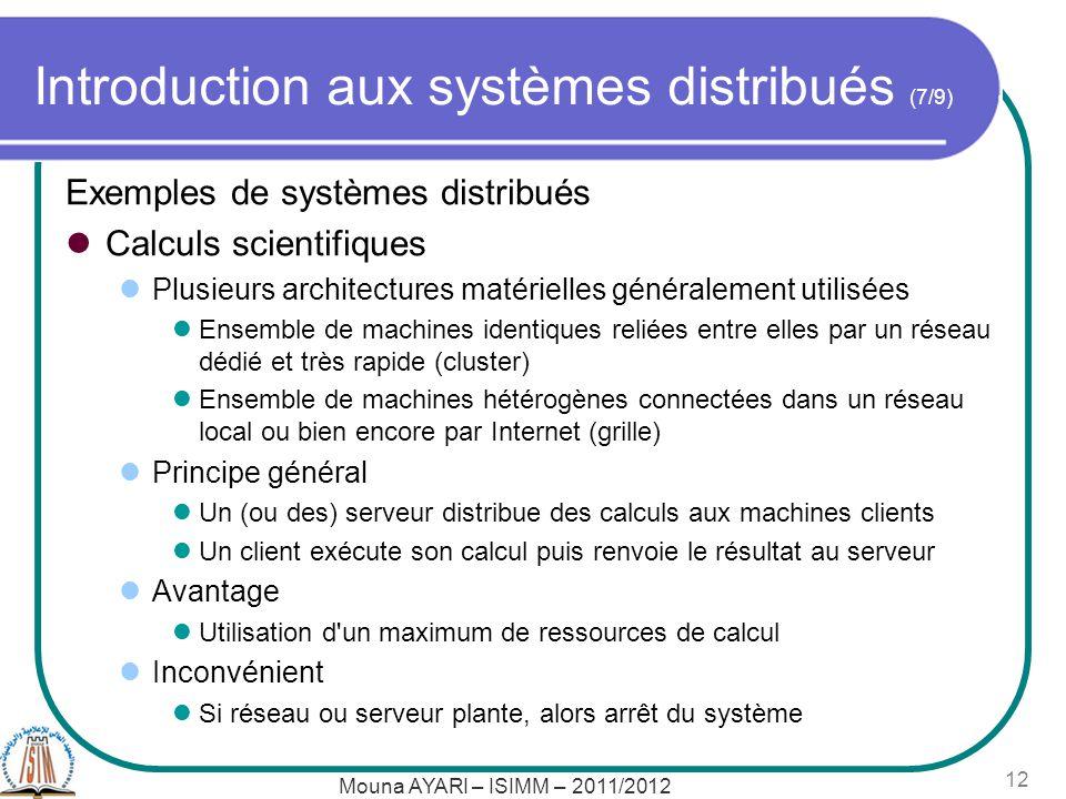 Introduction aux systèmes distribués (7/9)