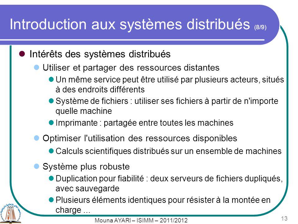 Introduction aux systèmes distribués (8/9)