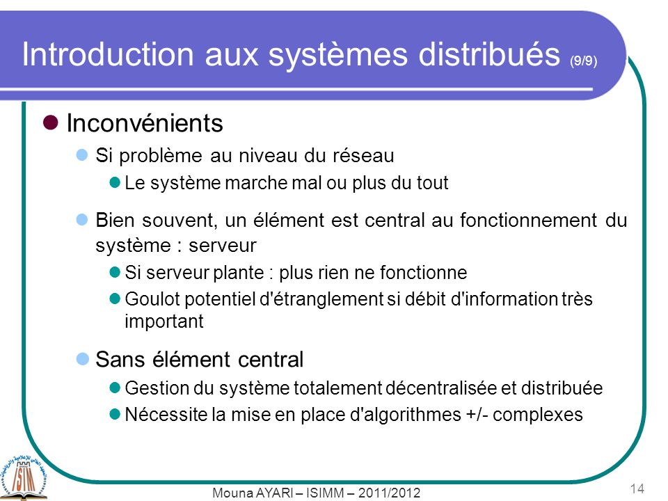 Introduction aux systèmes distribués (9/9)