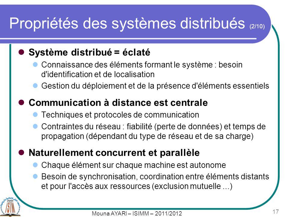 Propriétés des systèmes distribués (2/10)