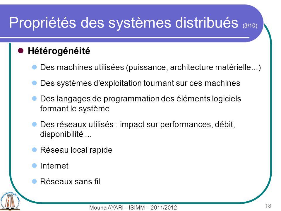 Propriétés des systèmes distribués (3/10)