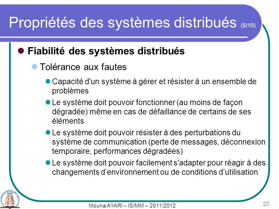 Propriétés des systèmes distribués (5/10)