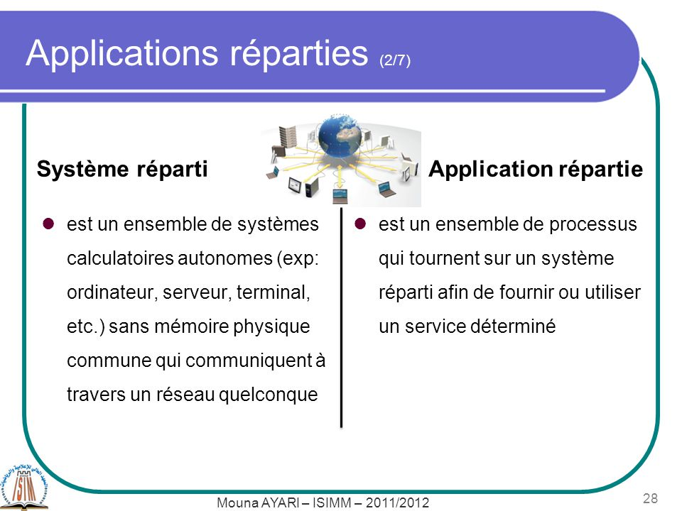 Applications réparties (2/7)