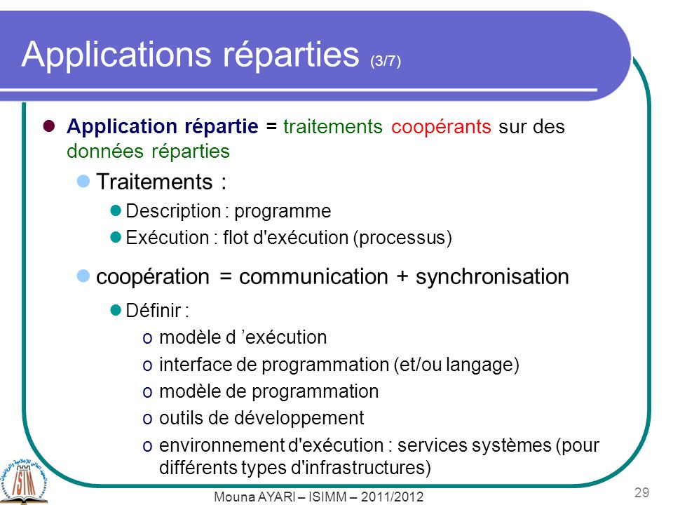 Applications réparties (3/7)