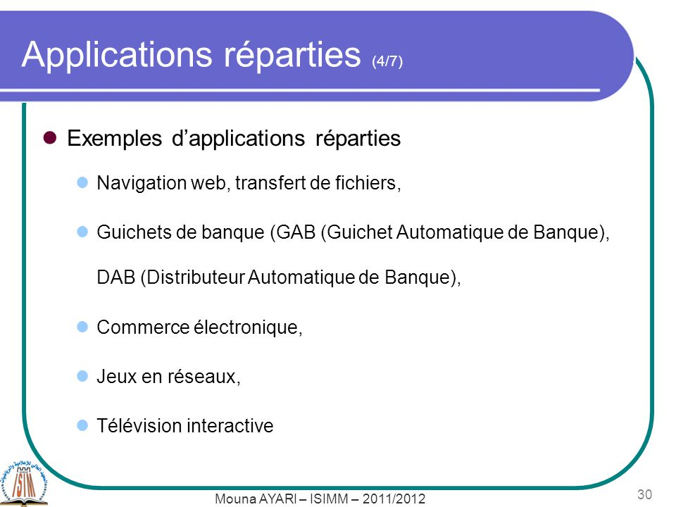 Applications réparties (4/7)