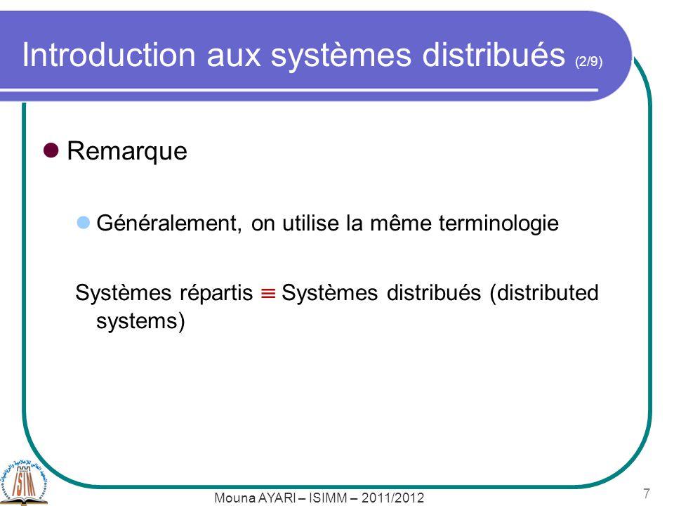 Introduction aux systèmes distribués (2/9)