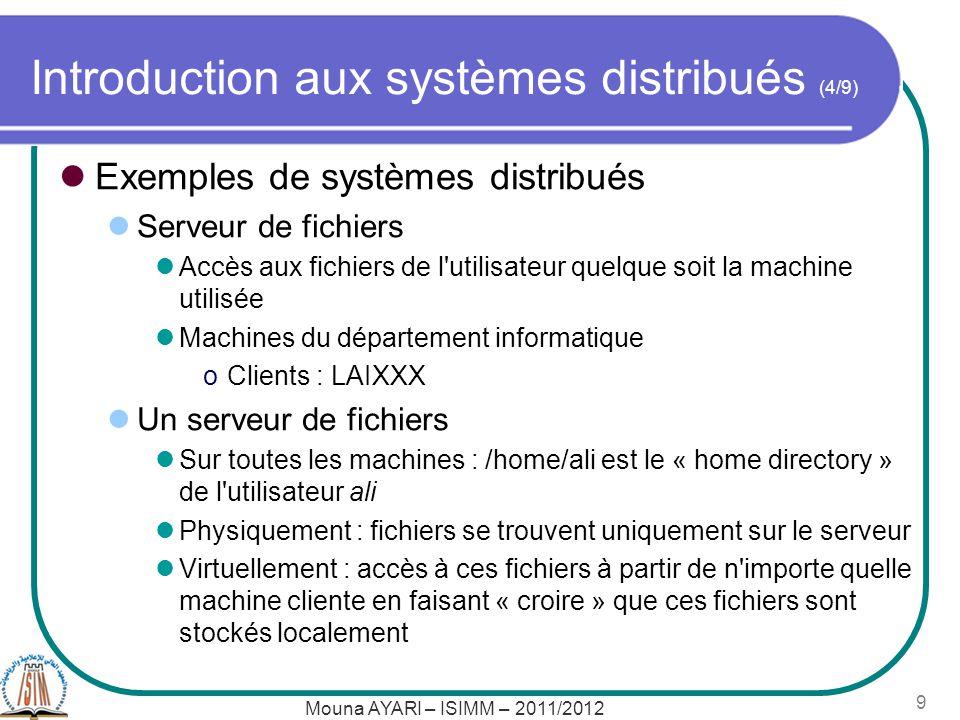 Introduction aux systèmes distribués (4/9)