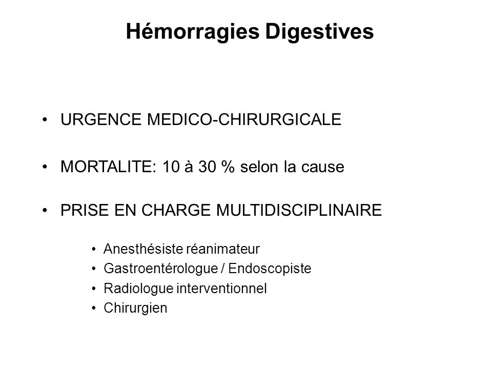 Hémorragies Digestives
