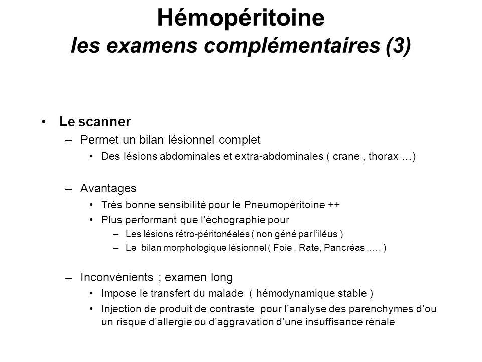 Hémopéritoine les examens complémentaires (3)