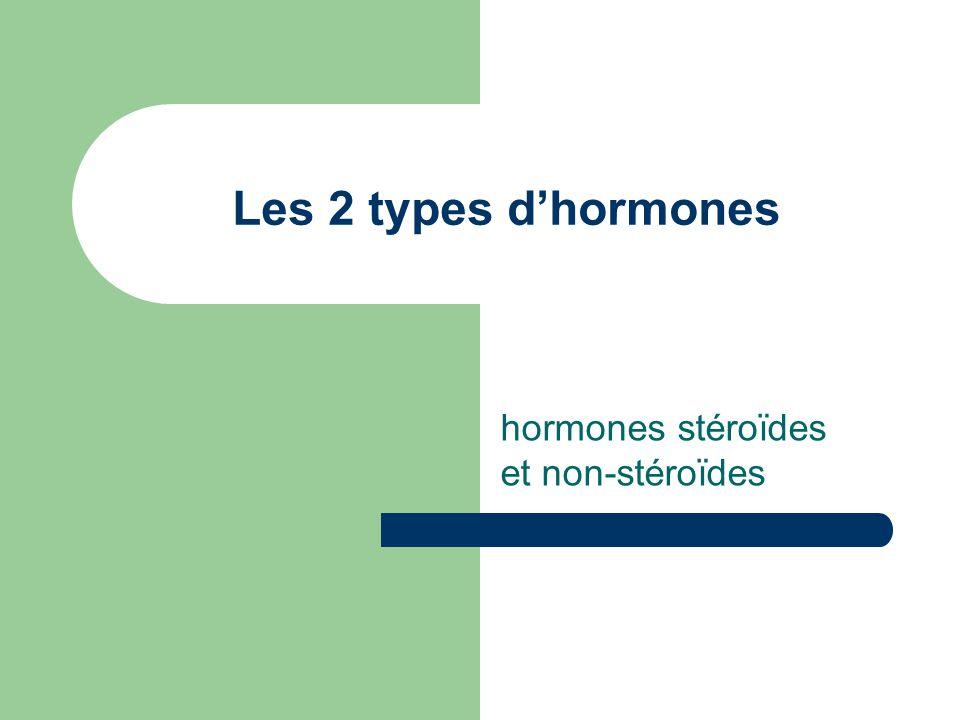 hormones stéroïdes et non-stéroïdes