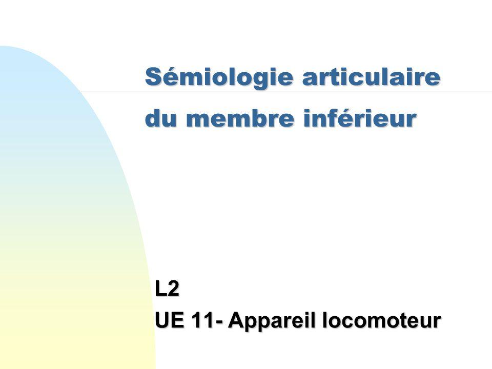 Sémiologie articulaire du membre inférieur