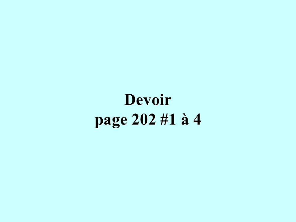 Devoir page 202 #1 à 4