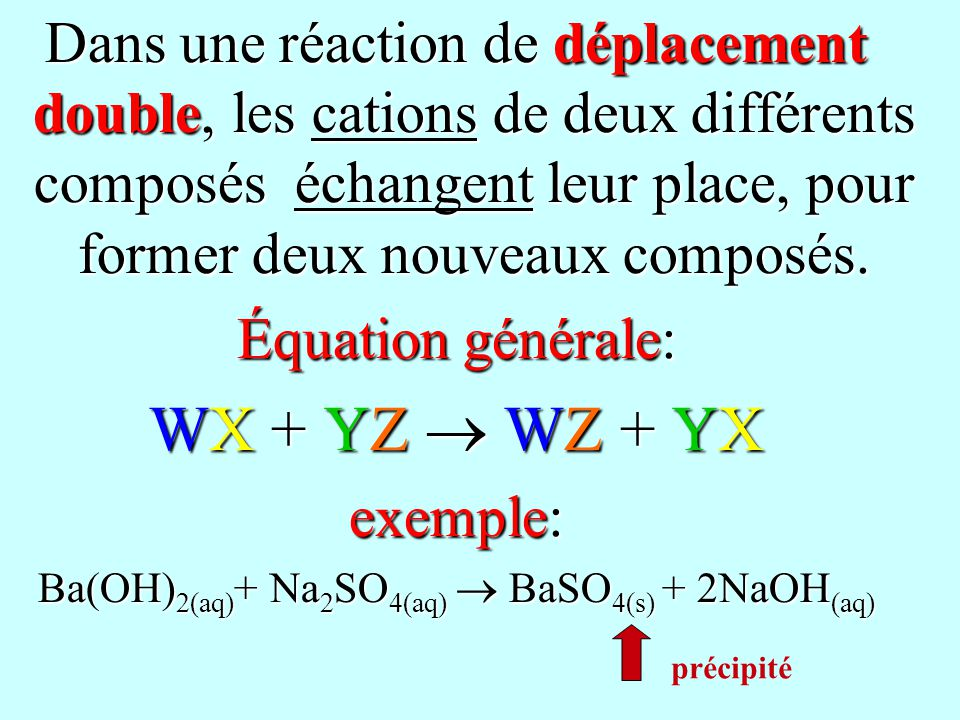 Ba(OH)2(aq)+ Na2SO4(aq)  BaSO4(s) + 2NaOH(aq)