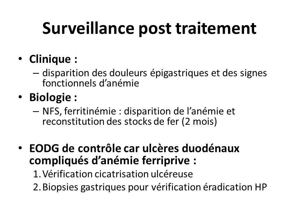 Surveillance post traitement