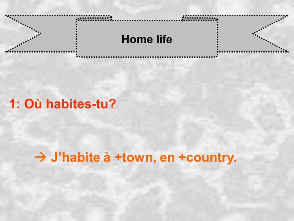  J'habite à +town, en +country.