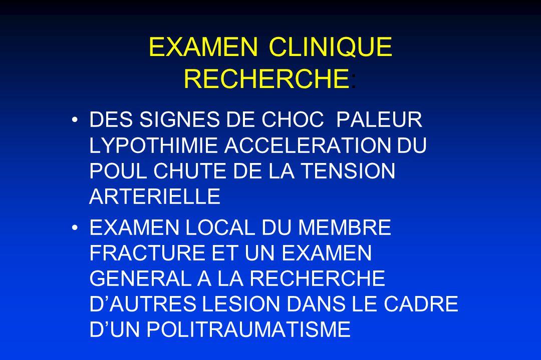 EXAMEN CLINIQUE RECHERCHE:
