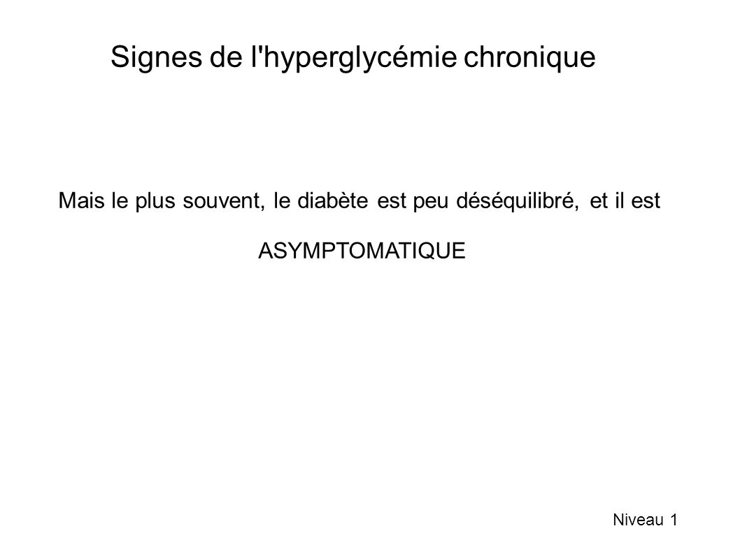 Signes de l hyperglycémie chronique