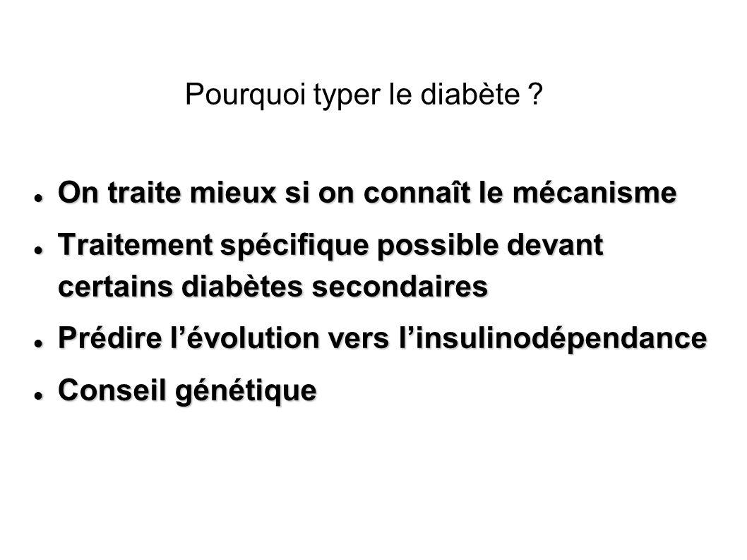 Pourquoi typer le diabète