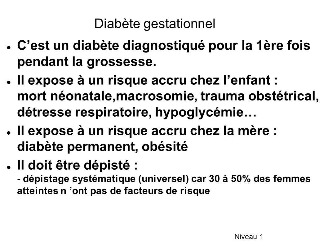 C'est un diabète diagnostiqué pour la 1ère fois pendant la grossesse.