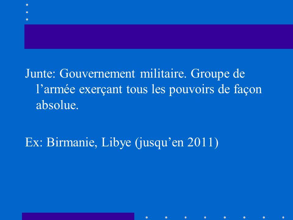 Junte: Gouvernement militaire