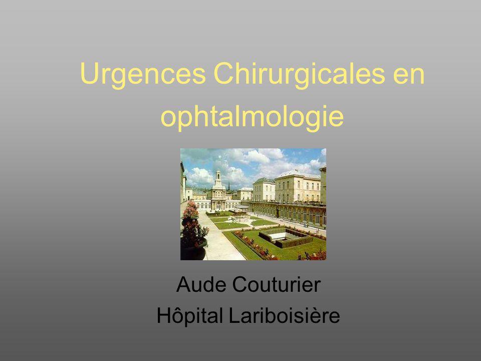 Urgences Chirurgicales en ophtalmologie