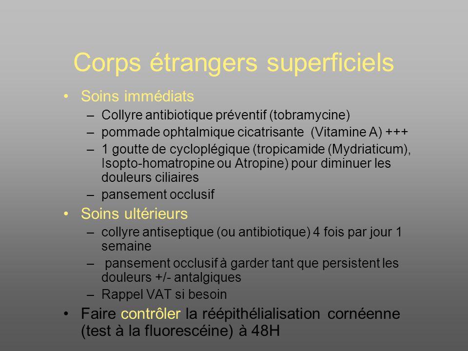 Corps étrangers superficiels