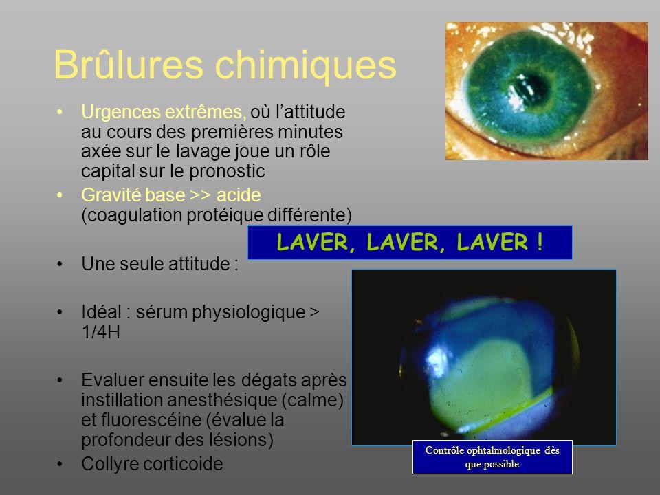 Contrôle ophtalmologique dès que possible