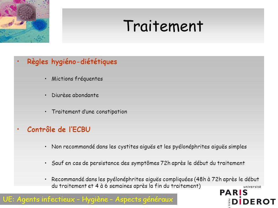 Traitement Règles hygiéno-diététiques Contrôle de l'ECBU