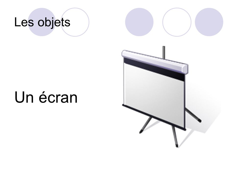 Les objets Un écran