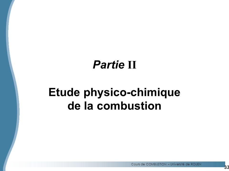 Etude physico-chimique