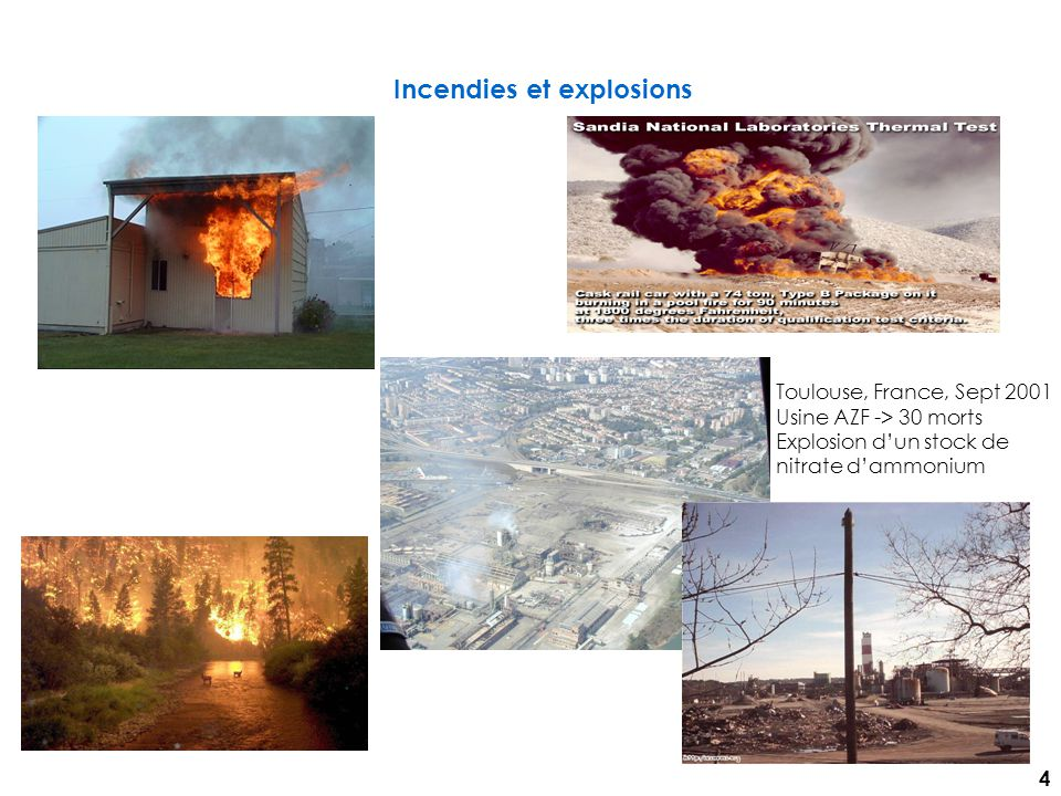 Incendies et explosions