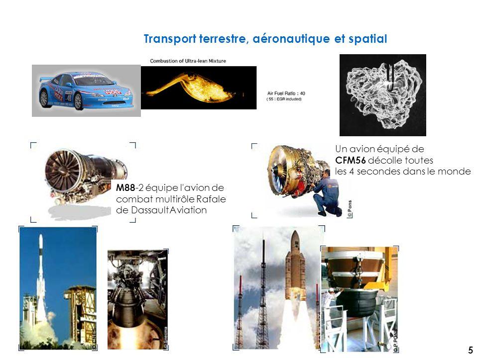 Transport terrestre, aéronautique et spatial