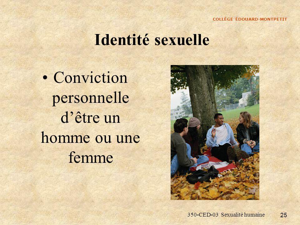 Conviction personnelle d'être un homme ou une femme