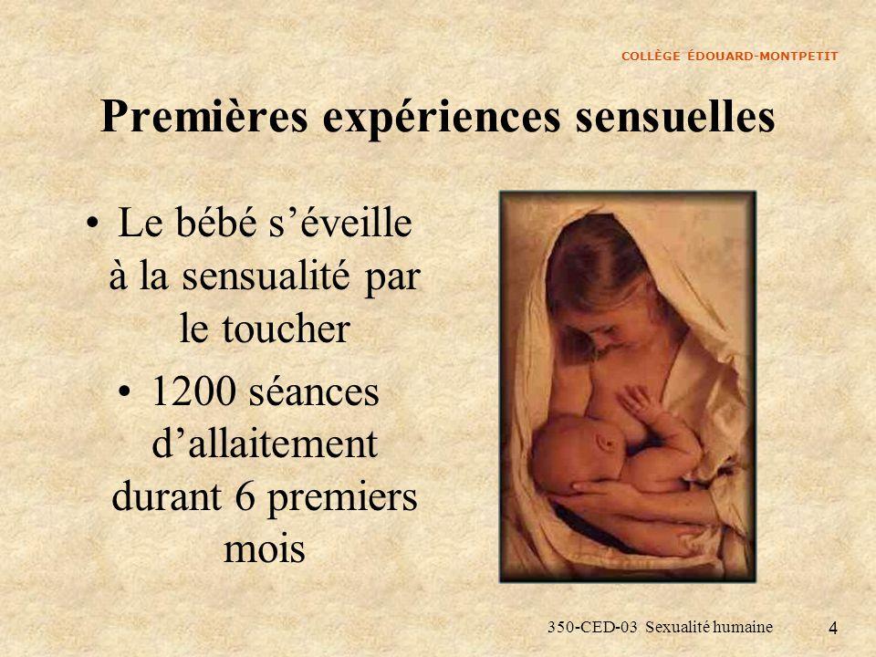 Premières expériences sensuelles