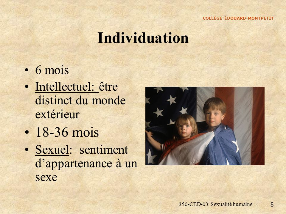 Individuation 18-36 mois 6 mois