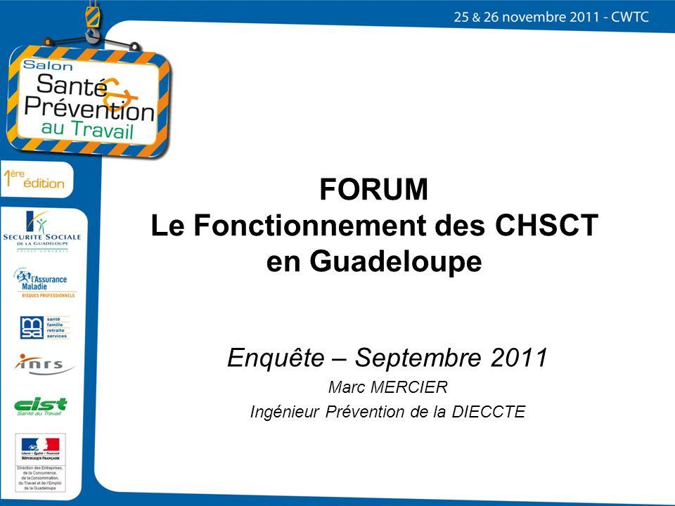 FORUM Le Fonctionnement des CHSCT en Guadeloupe