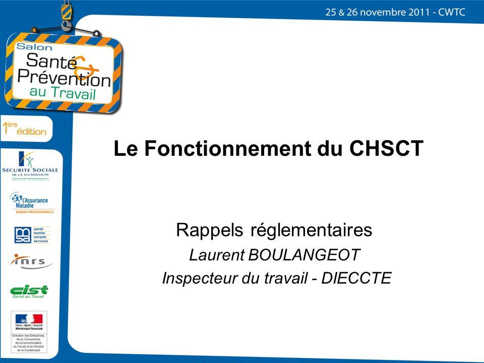 Le Fonctionnement du CHSCT