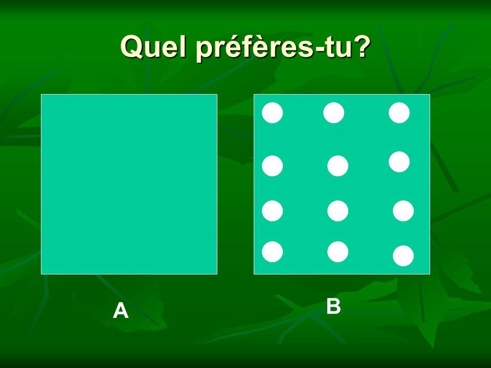 Quel préfères-tu B A