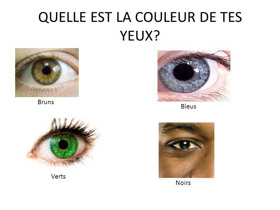 QUELLE EST LA COULEUR DE TES YEUX