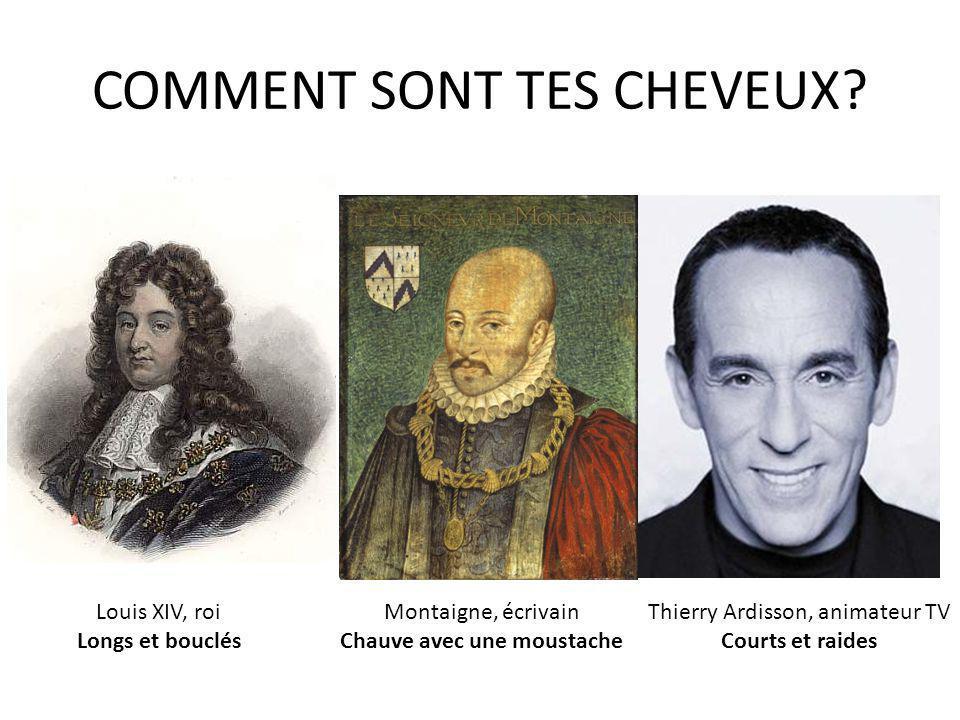 COMMENT SONT TES CHEVEUX