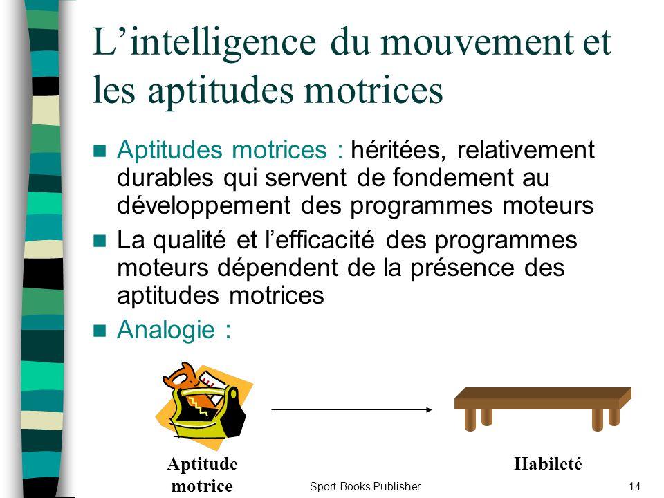 L'intelligence du mouvement et les aptitudes motrices