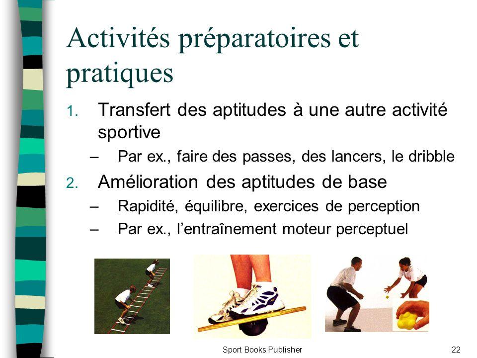 Activités préparatoires et pratiques