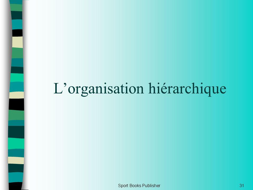 L'organisation hiérarchique